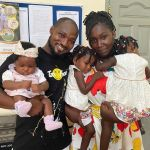 PHOTOS: Funny Face Reunites With His Children As His Baby Mama Pays Him A Surprise Visit