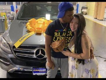 Sweet Husband Buys His Wife Brand New Mercedes Benz After She Complained Of Not Feeling Well