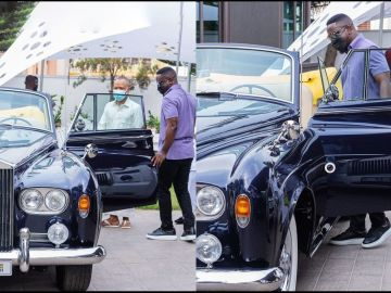 VIDEO: Sarkodie Humbled After Touring Dr Osei Kwame Despite's Garage And Having Feel Of His Fleet Of Expensive Cars