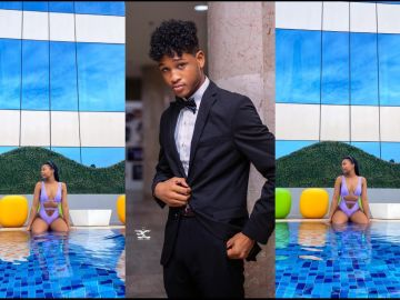 Rahim Banda's 19-year-old Girlfriend, Emefa, Storms Instagram With Bikini Photos