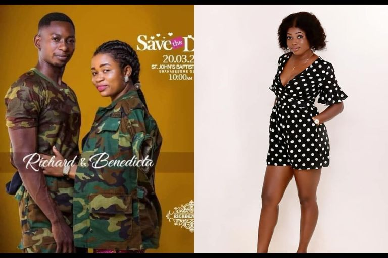 Ghanaian Military Man, Richard Agu, Dumps His Girlfriend, Comfort Bliss, And Set To Marry Another Lady After Allegedly Squandering Her Money