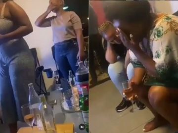 VIDEO: 'Holy Spirit' Descends On Drunk Slay Queens At A Party And Start Speaking In Tongues