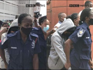 Here Are Photos Of Akuapem Poloo Being Whisked Into A Taxi After She Was Sentenced To 90 Days In Prison
