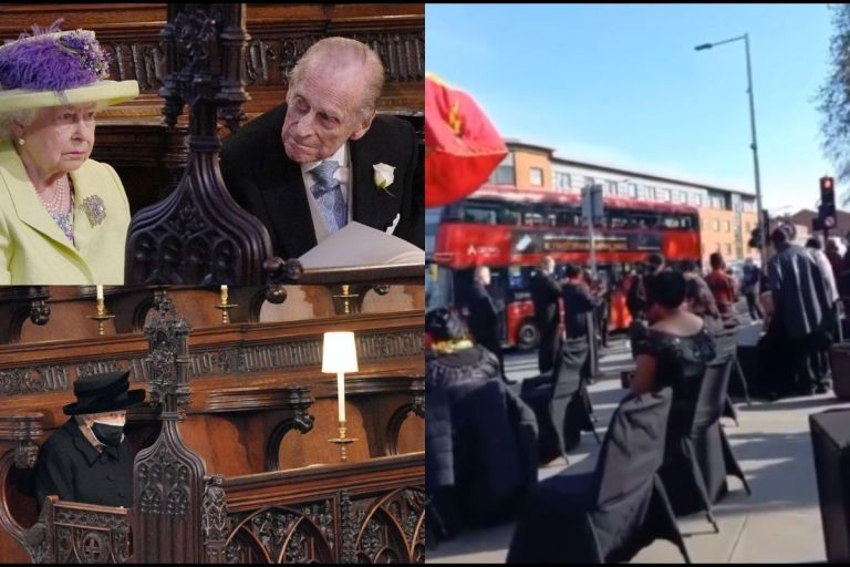VIDEO: Some Ghanaians In The UK Hold Funeral Ceremony For The Queen's Husband, Prince Philip