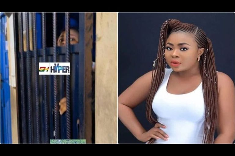 VIDEO: Dr Kwaku Oteng's 'Daughter', Adu Safowaah, Locked Up In Prison Cell For Claiming That Afia Schwarzenegger Has HIV/AIDS