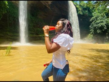 Berla Mundi Laments Over Horrible Pothole-ridden Roads Leading To Boti Falls - Says Little Has Been Done To Make Boti Falls Attractive