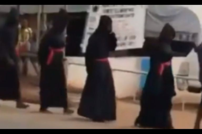 VIDEO: Alleged Sakawa Boys Spotted In Town Initiating A New Member