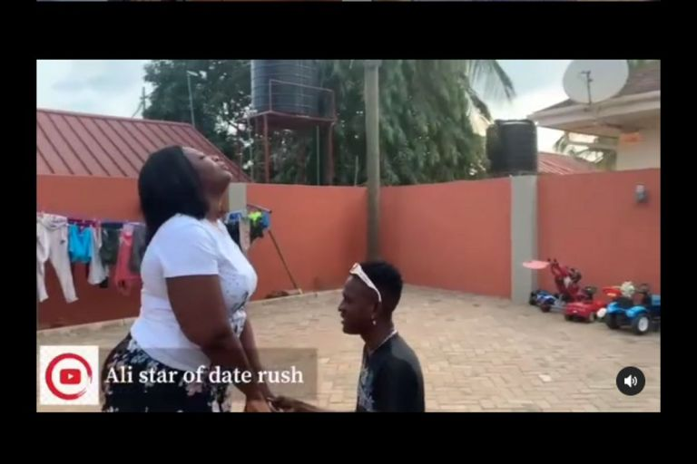 VIDEO: 'I Love You More Than My Mother' - Ali Of Date Rush Goes On His Knees And Proposes To Shemima