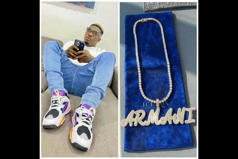 Fraud Money Is Talking? - AMG Rapper Armani Splashes $43,000 On A Customized Ice Box Necklace