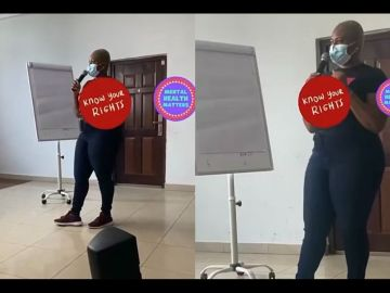 PHOTOS: Abena Korkor Sparks Pregnancy Rumours With Her Protruding Belly