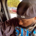 Davido Pictured With A Swollen Eye Probably After Shedding Uncontrollable Tears Over The Death Of His Friend, Obama DMW