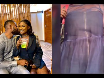 Recently Married Abena Moet Seen In A Video Hiding Her Pregnancy