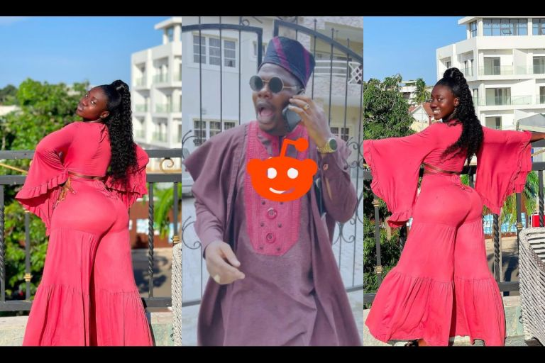 """Fantabulous"" - Hajia Bintu Penetrates Nigeria With Her Mountainous B*tts As Popular Comedian Mr Macaroni Reacts To Her Photos On IG"