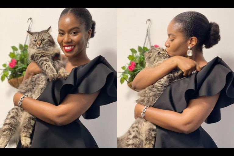 MzVee Makes Becomes The First Ewe Lady To Own A Cat As A Pet