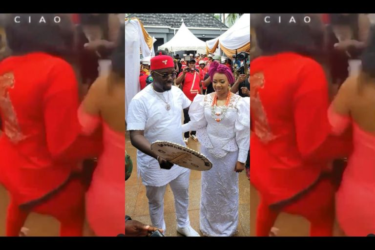 VIDEO: Uninvited Slay Queens Sacked From Obi Cubana's Mother's Lavish Burial
