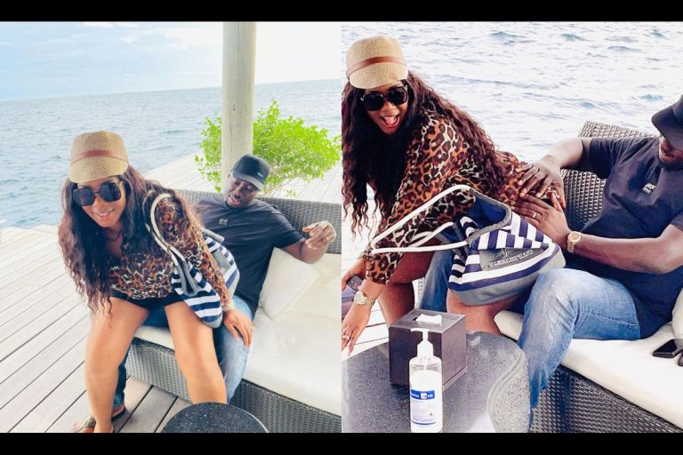 """""""I Love You With All My B*tt"""" - Obi Cubana's Wife Says As She Gives Him Her B*tts To Grind"""