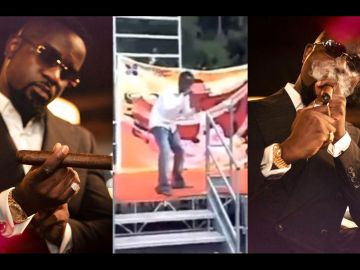 Sarkodie Drops A Throwback Video Of Himself Looking Skinny, Hungry While Performing On Stage To Motivate His Fans