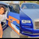 VIDEO: Afia Schwar Cruises In A Borrowed Rolls Royce In Dubai