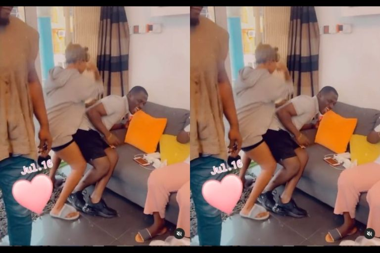 VIDEO: Mzbel 'Abuses' Zionfelix Probably For Messing The Heads Of Two Women