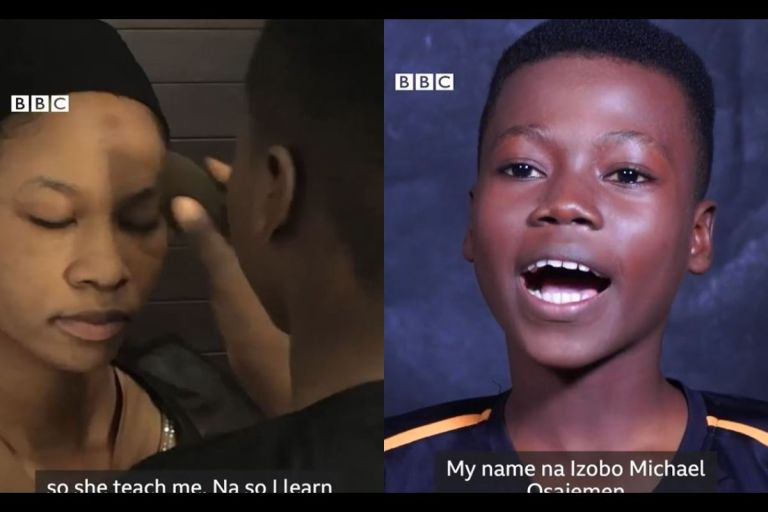 Meet Michael Izobo: The 14-year-old Makeup Artist Literally Making His Mark On His Clients' Faces - VIDEO