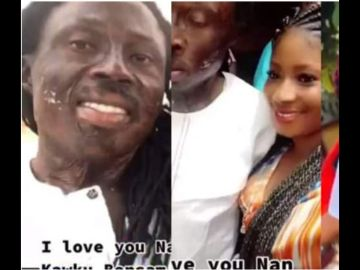 Here Are Photos Of The Beautiful Girlfriend Of Celebrity Fetish Priest, Kwaku Bonsam