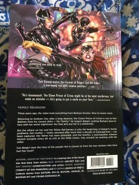 Batgirl Volume 3 Death of the Family Reverse