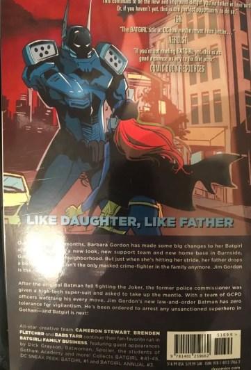 Batgirl Volume 2 Family Business Rear