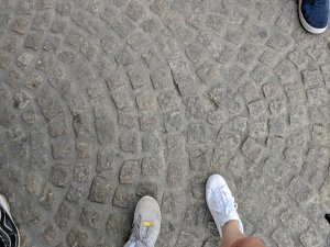 Feet on the cobbles