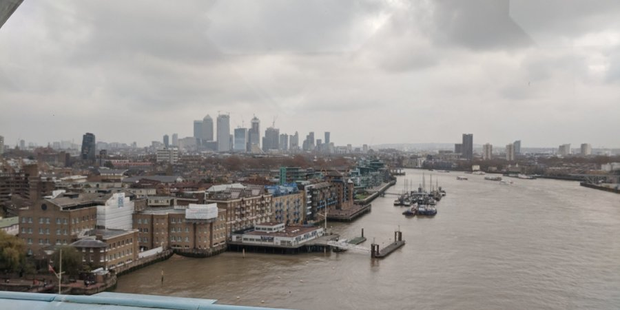 View from Tower Bridge