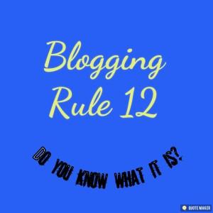Blogging Rule 12. Teamwork.