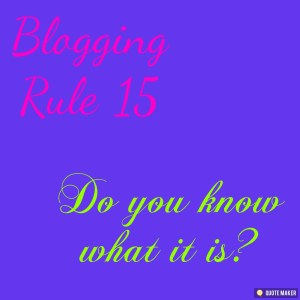 Blogging Rule 15. Visibility.