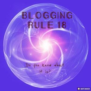 Blogging Rule 18. Design.