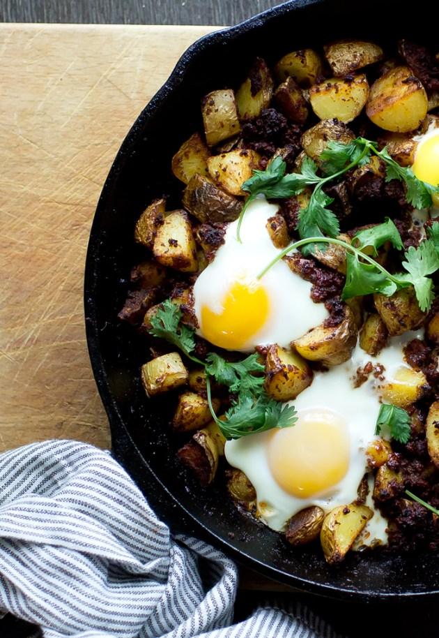 Potato Chorizo Hash - thegourmetgourmand.com