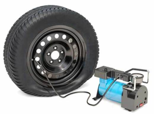 hew to use a portable air compressor to fill a tire