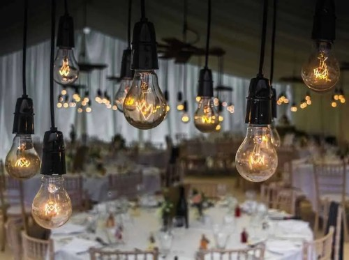 table, party, gala, lights