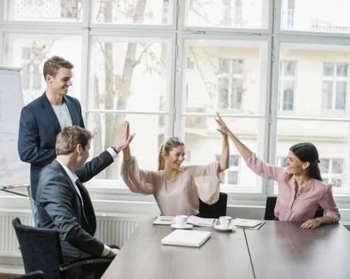 meeting, hands, people
