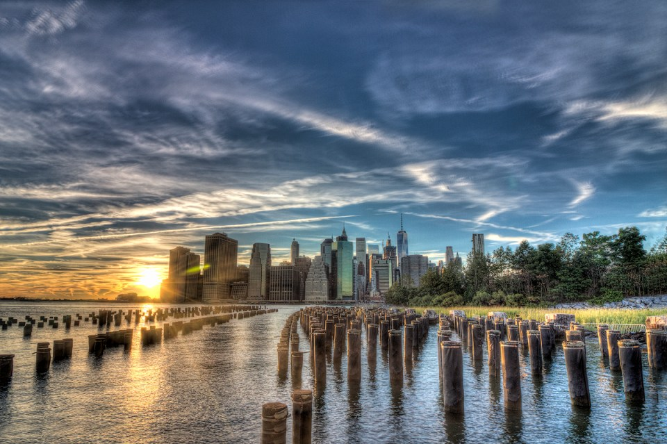 The Manhattan Skyline at Sunset