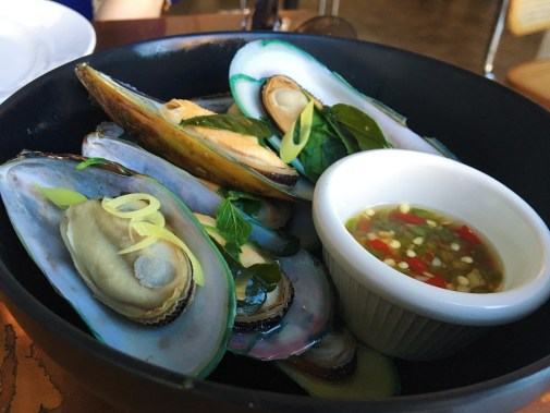 Steamed Basil Mussels - New Zealand Mussels, Fresh Basil, Spicy Lime Sauce