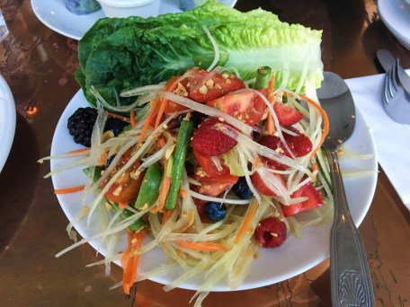 Som Tum Summer - Green Papaya, Chilies, Carrot, Tomato, Long Bean, Peanus w/ Mixed Berries