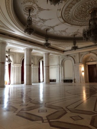 Almost all of the marble and wood in the palace is from the Transylvania region. Our guide joked (or was serious, couldn't tell) that all of the marble in Transylvania is now gone