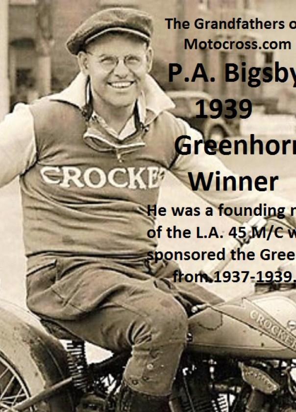 1939 Greenhorn winner PA Bigsby