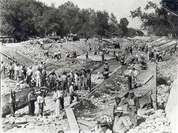 1947 a7a Compton Rough Riders MC have to practice elsewhere as L.A. river gets covered in cement