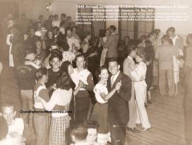 1948 Greenhorn race, evening dance, MC members wear their club sweaters