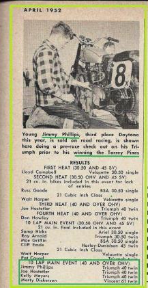 1952 4-0b4 San Diego Hi-boots MC, 26 yr old Jimmy Phillips wins