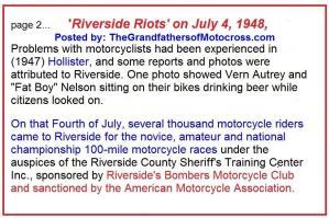 Riverside MC and Riverside Riots, Hollister
