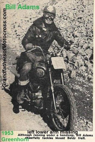 Adams, Bill 1953 Greenhorn, one hand handicap