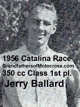 Ballard, Jerry 1956 Catalina 350 cc class, 1st place