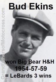 Ekins, Bud (AMA) 1954, 1957 & 1959 wins Big Bear