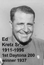 Kretz, Ed Sr. (AMA) 1911- 1996, won first Daytona 200 1937
