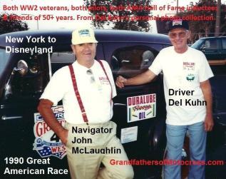 McLaughlin, John a4 (AMA) 1990 & Kuhn, Del (AMA) 1990 Great American Race cross country car rally